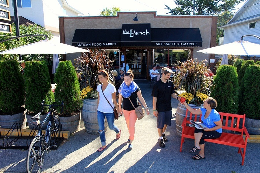 The Bench Market's sunny patio - The Bench Market, Penticton BC