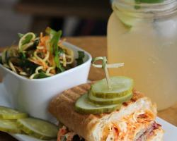 Sandwich & Salad Combo with Fresh-Squeezed Lemonade - The Bench Market, Penticton BC