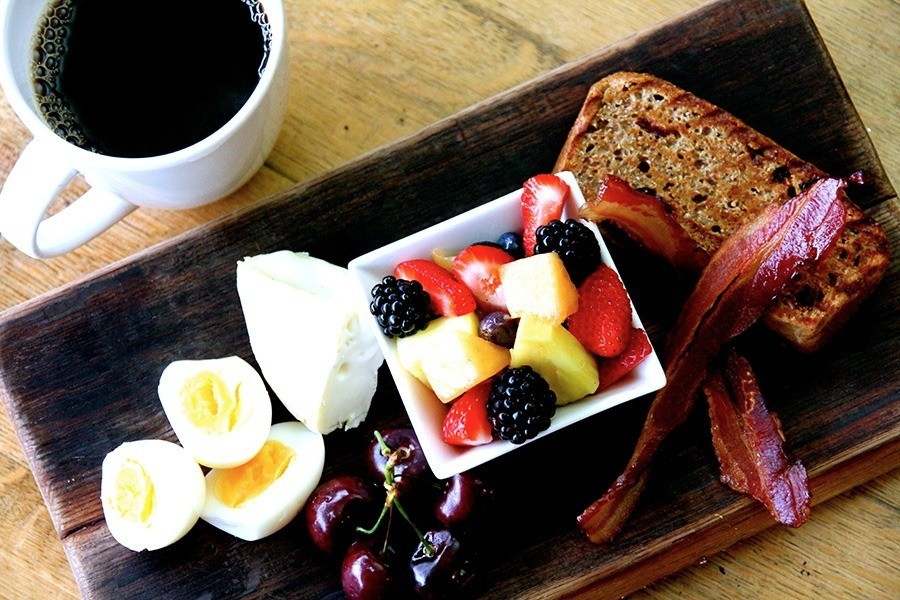 Bench Breakfast Platter with Coffee - The Bench Market, Penticton BC
