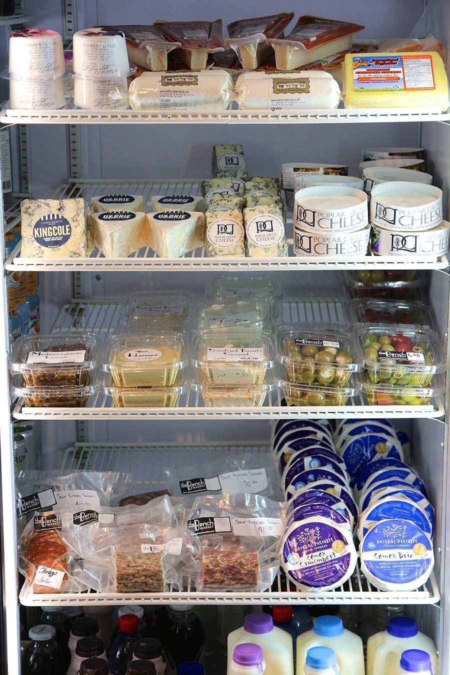 Cheese, Charcuterie & Dips retail fridge - The Bench Market, Penticton BC