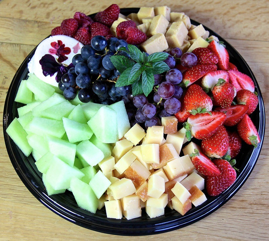 Fruit & Cheese catering platter - The Bench Market, Penticton BC